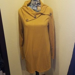 Mustard sweater with buttons